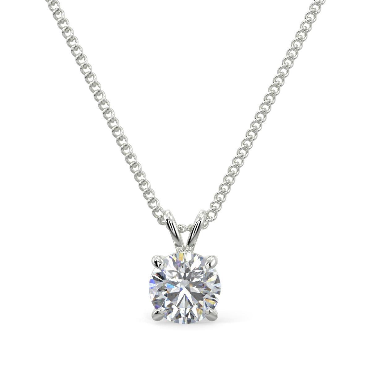 Solitaire Diamond Pendants