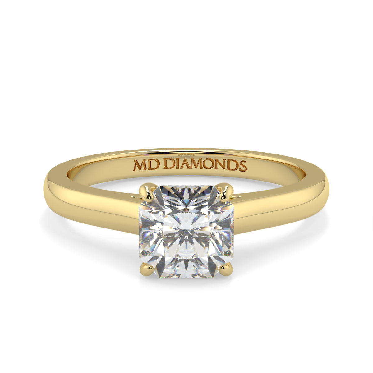 Assher  Wed Fit Solitaire Ring