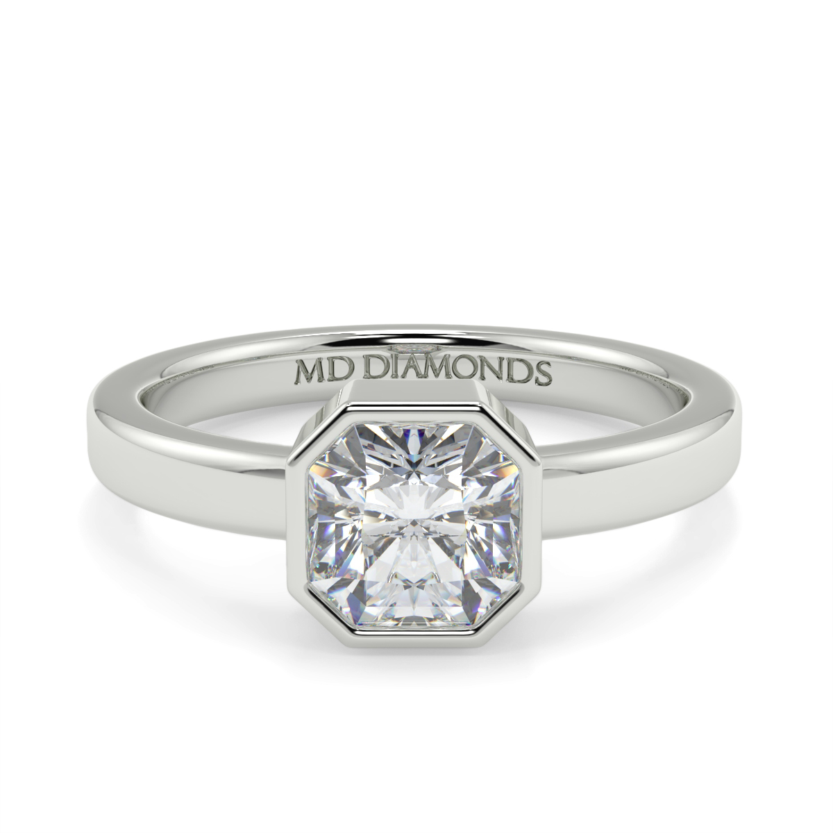 Assher Soliraire Rubover Ring