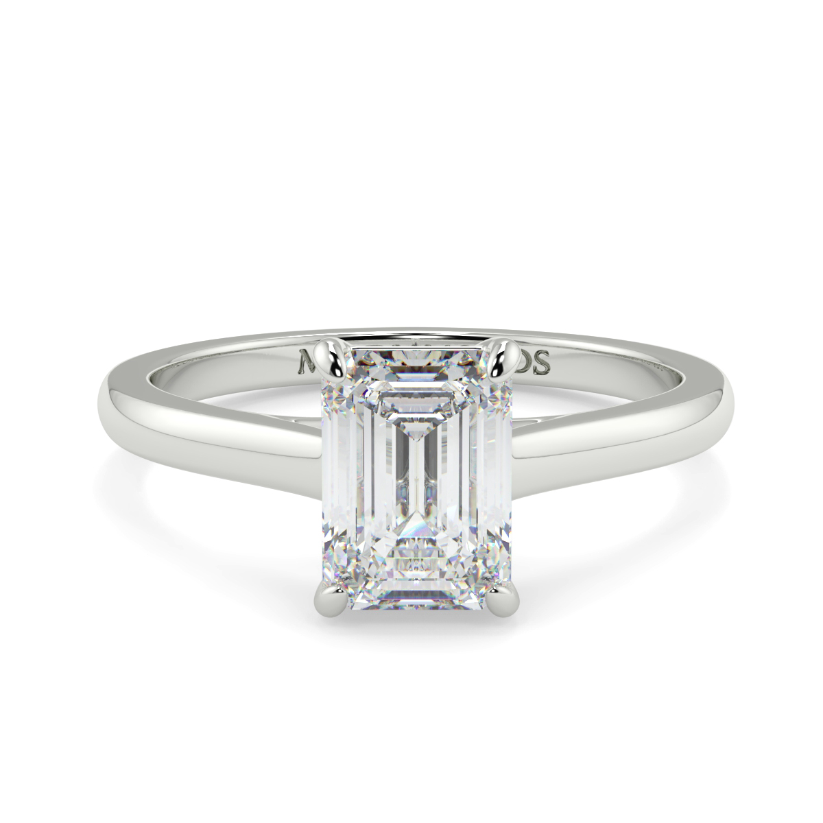 Emerald 4 Claw  Solitaire  Ring