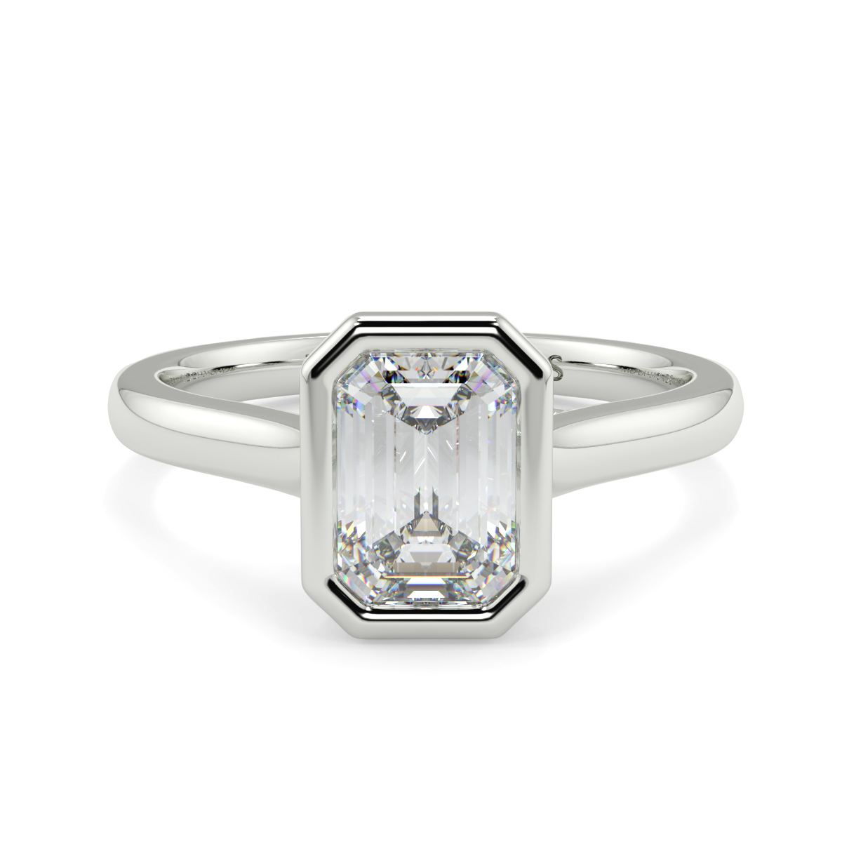 Emerald Rubover Solitaire Ring