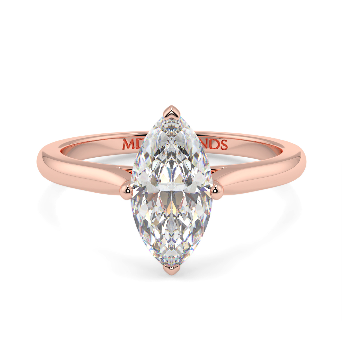 Solitaire 4 Claw Marquise Ring