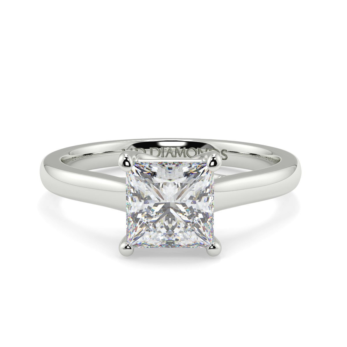 Princess  4 Claw Solitaire Ring