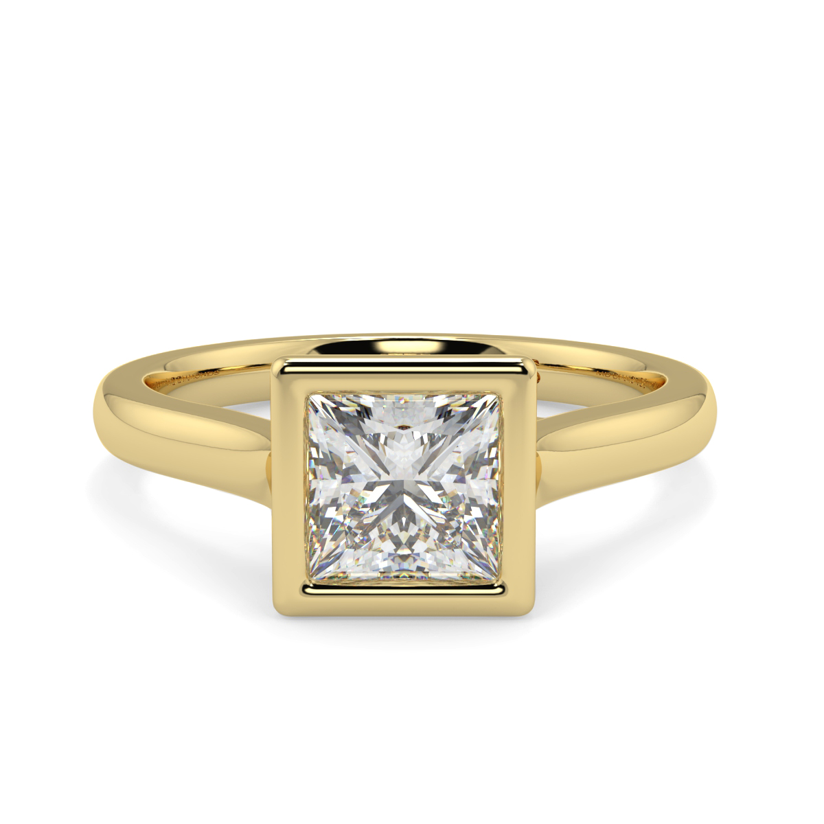 Princess  Rubover Solitaire Ring