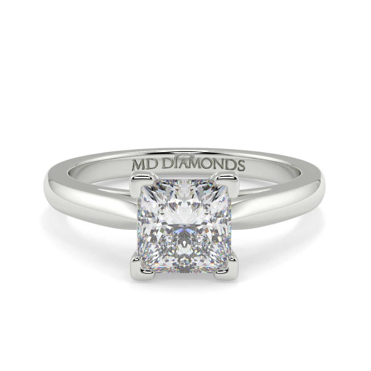 Princess 4 Claw Solitaire  Diamond Ring