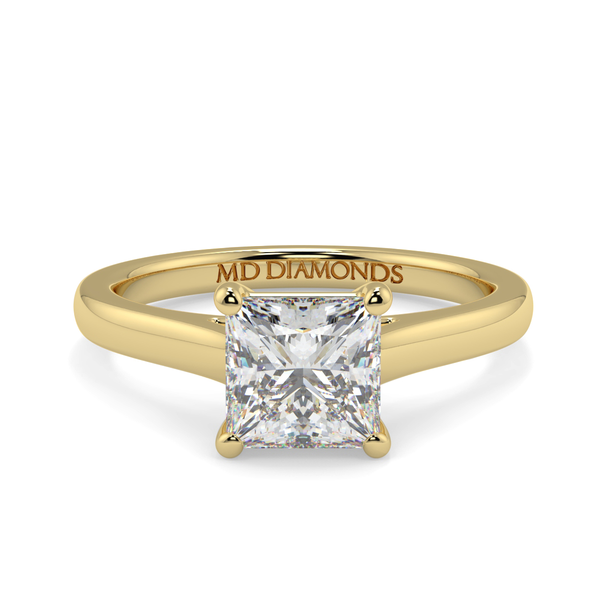 Princess Wed Fit Uniform Solitaire Ring