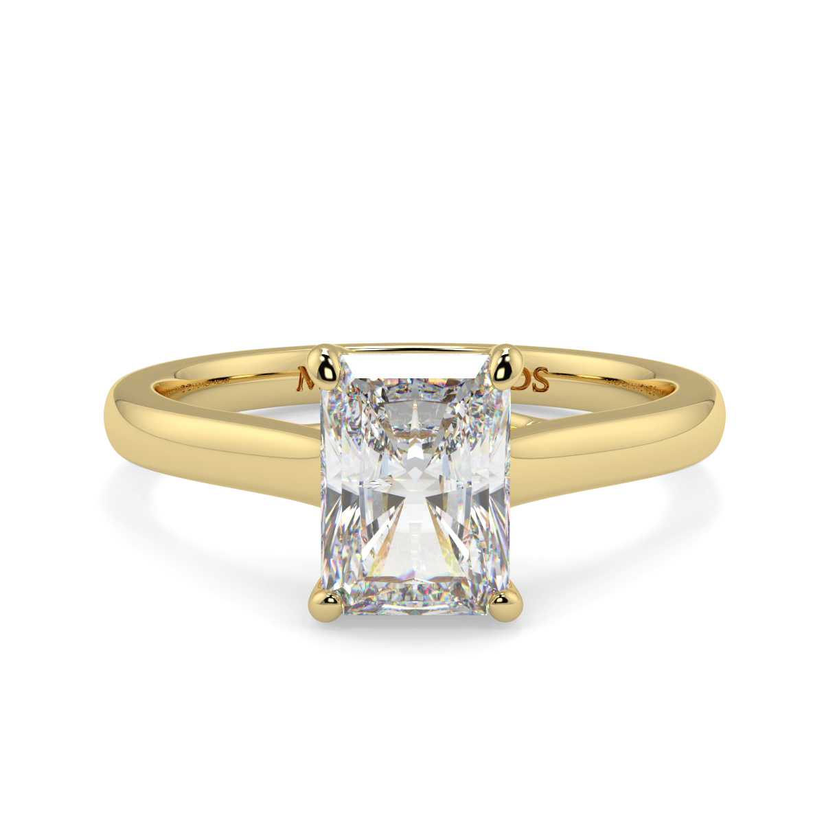 Radiant 4 Claw Solitaire  Ring