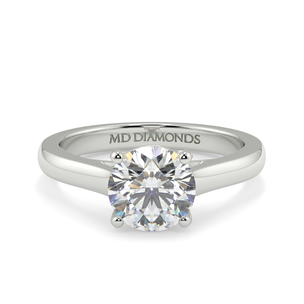 Round 4 Claw Solitaire Ring