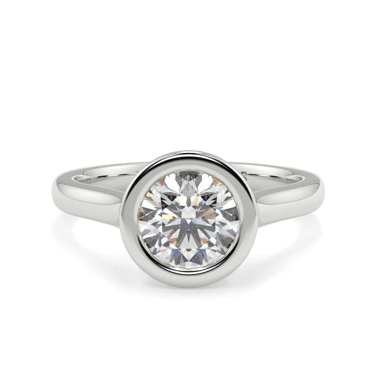 Round Rubover Solitaire Ring