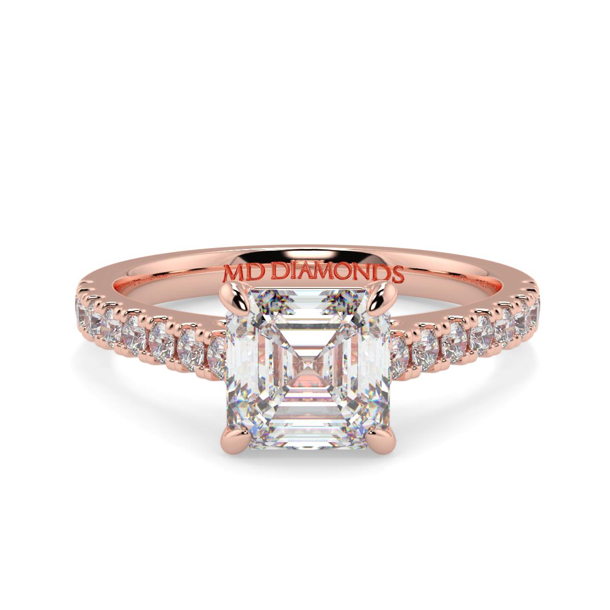 Asher Microset  Diamond Ring
