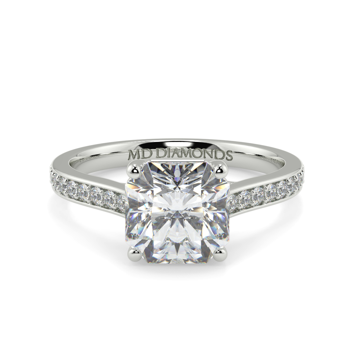 Asher Pave Set Dimaond Ring