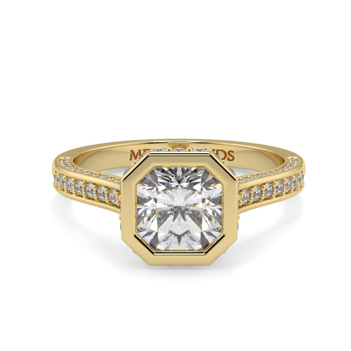 Asher Rubover Pave Set Diamond Ring