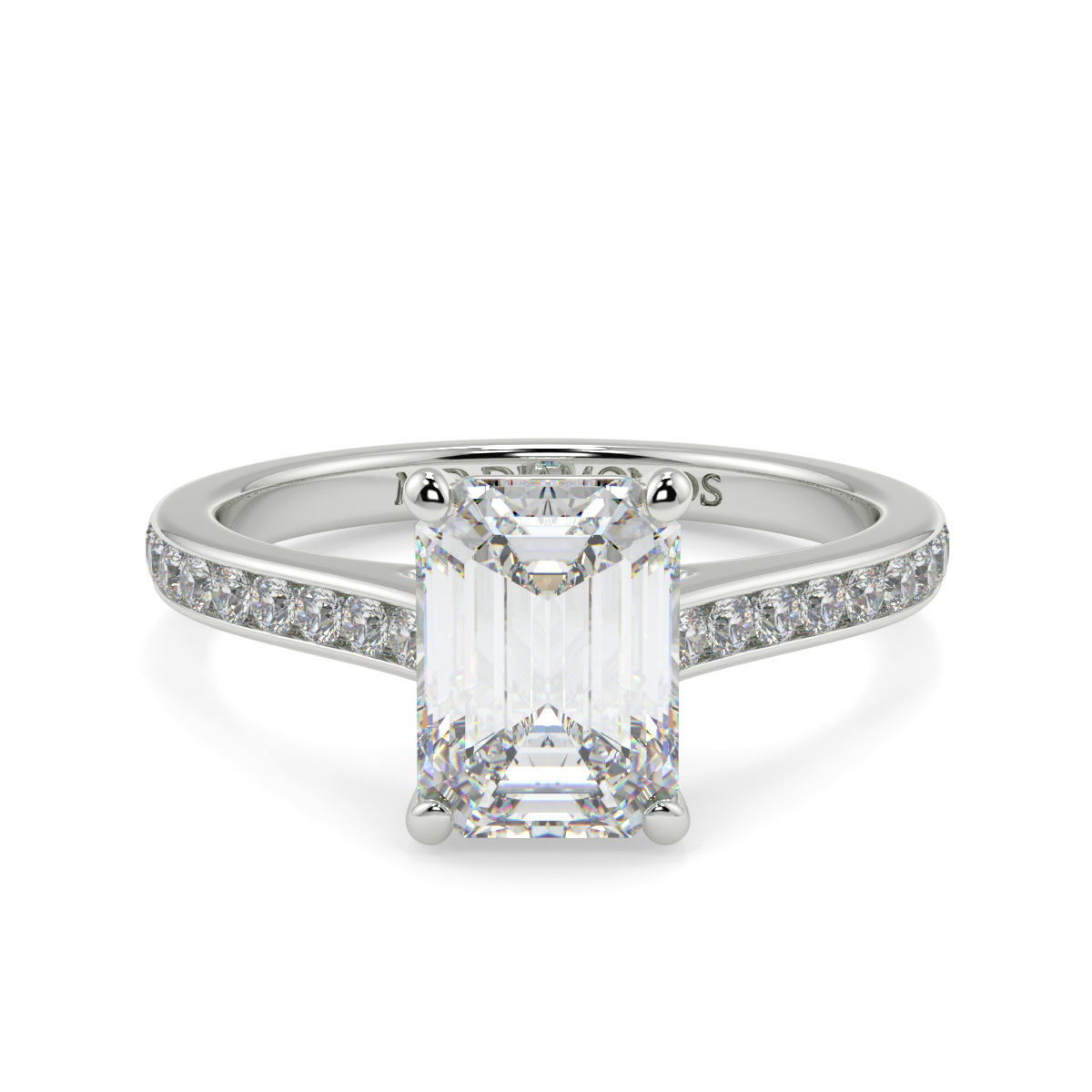Emerald Channel Wed Fit Diamond Ring