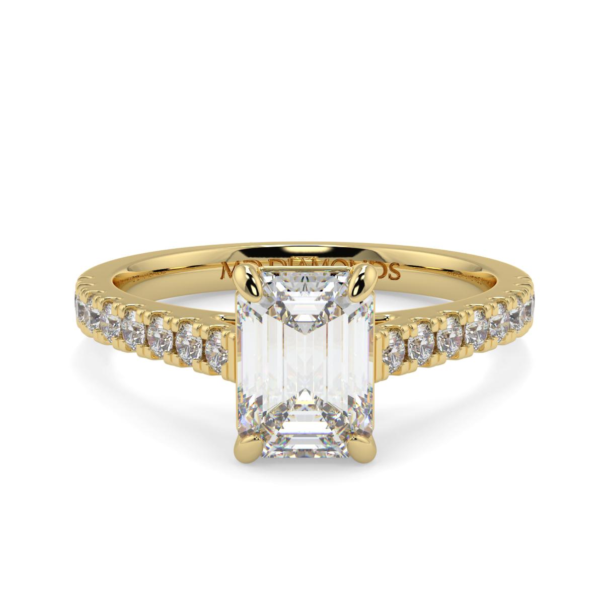 Emerald Micro Set Diamond Ring