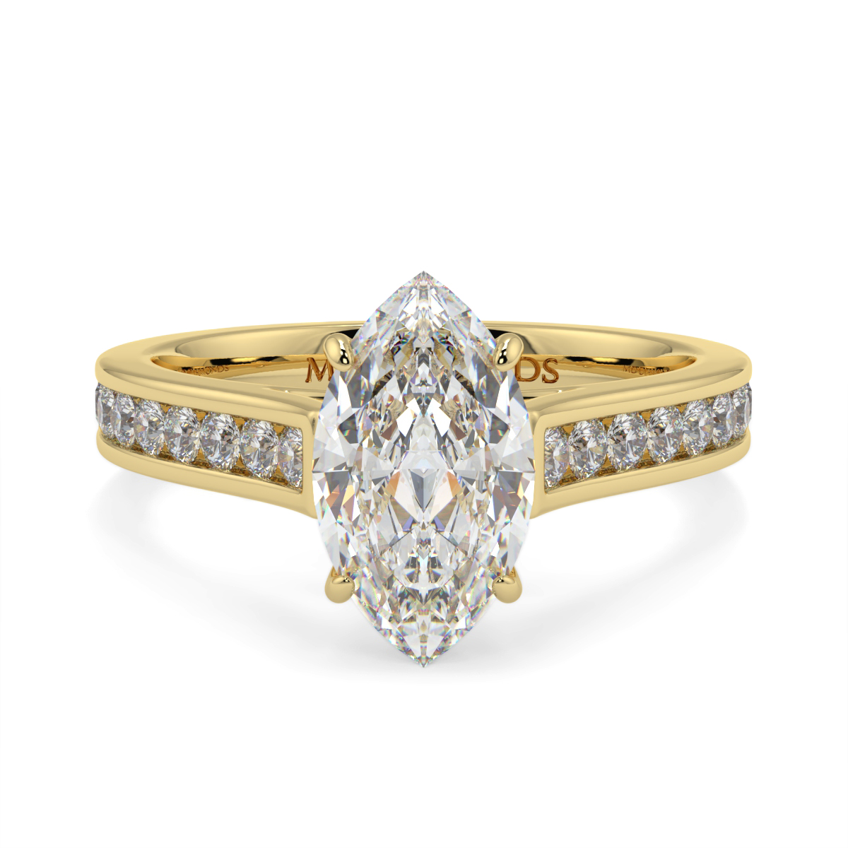Marquise Channel Set Diamond Ring