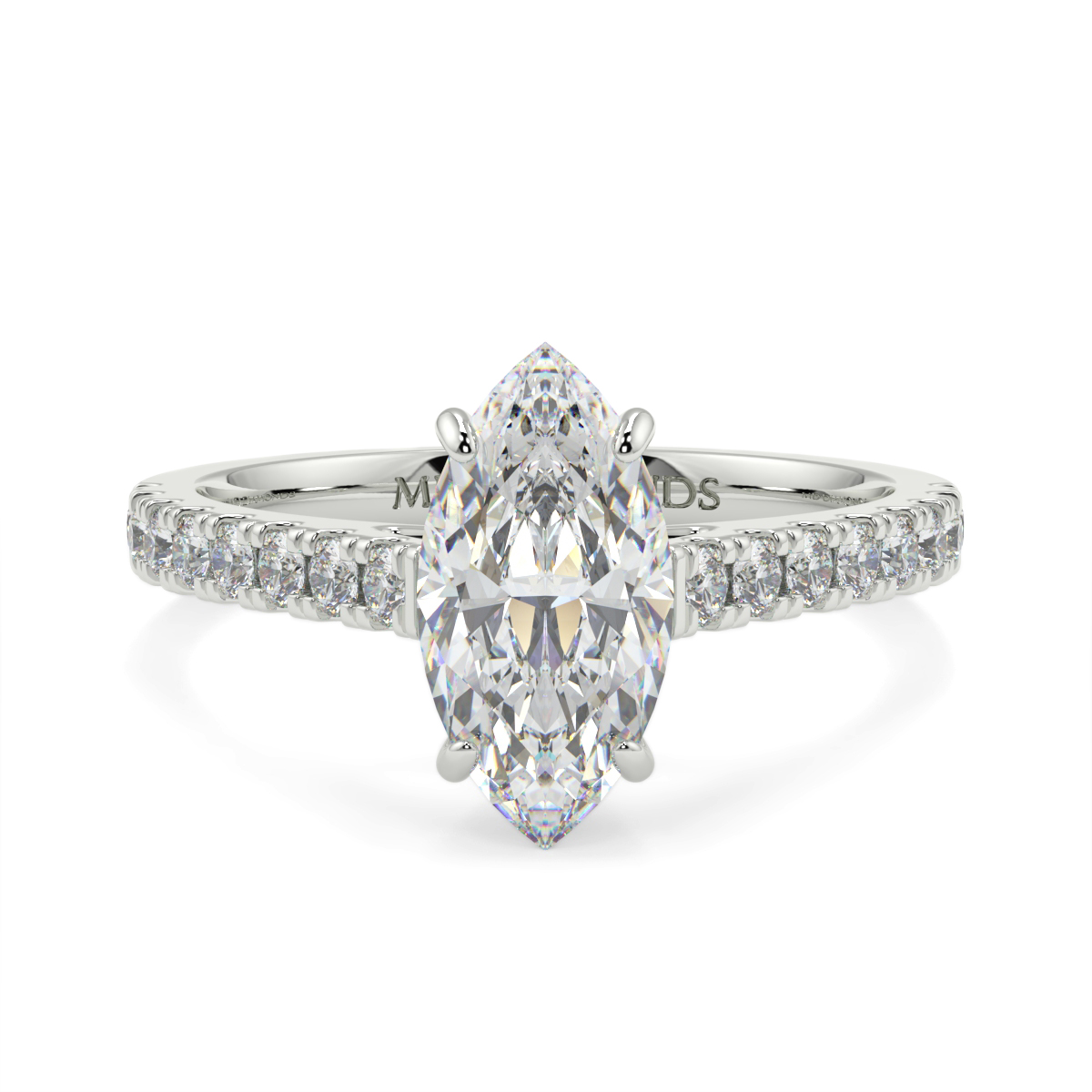 Marquise Microset Diamond Ring