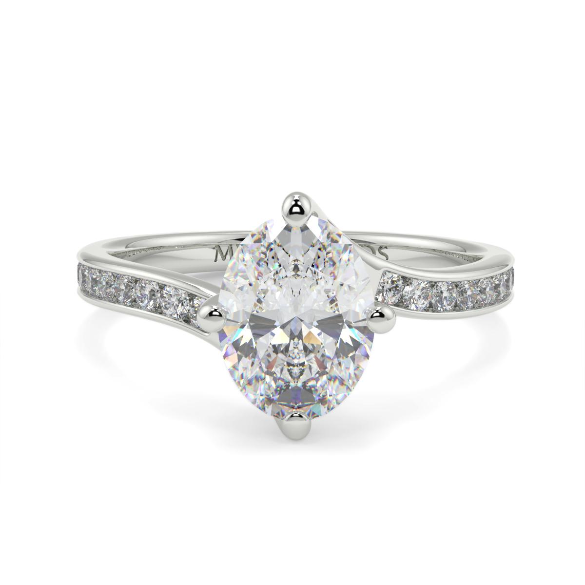 Oval Channel Set Twist Diamond Ring