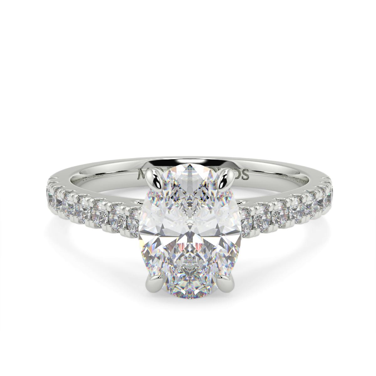 Oval Microset Diamond Ring