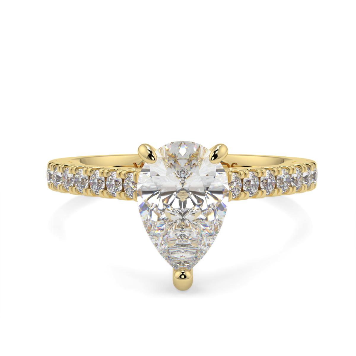 Pear Microset Diamond Ring