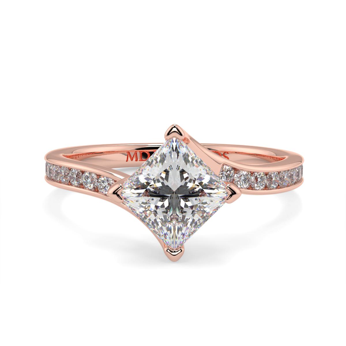 Princess Channel Set Twist  Ring