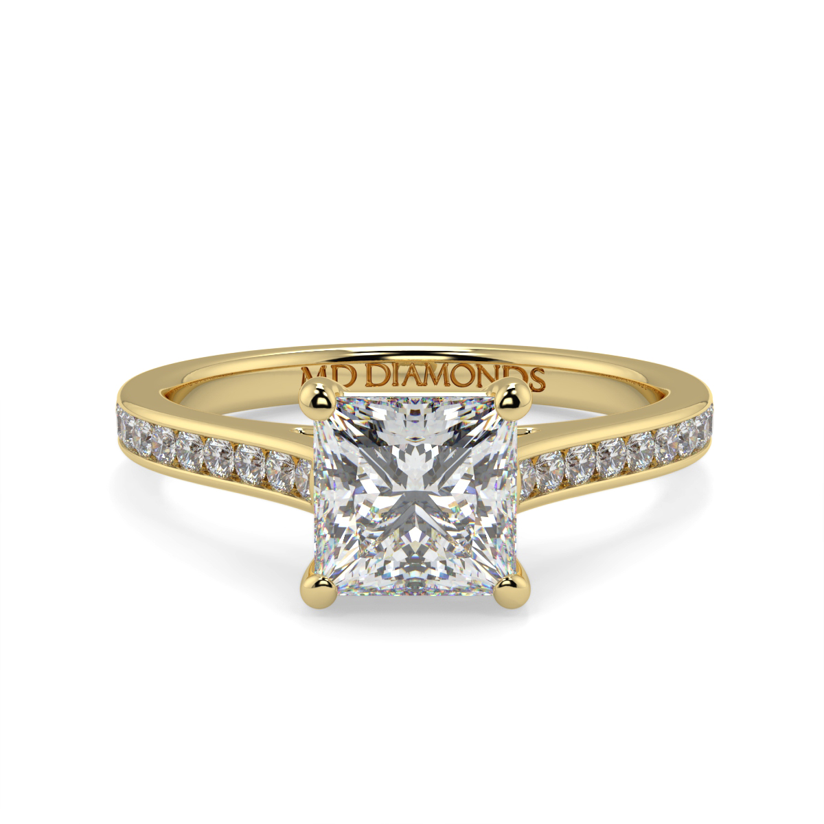 Princess Channel Set Wed Fit Diamond Ring