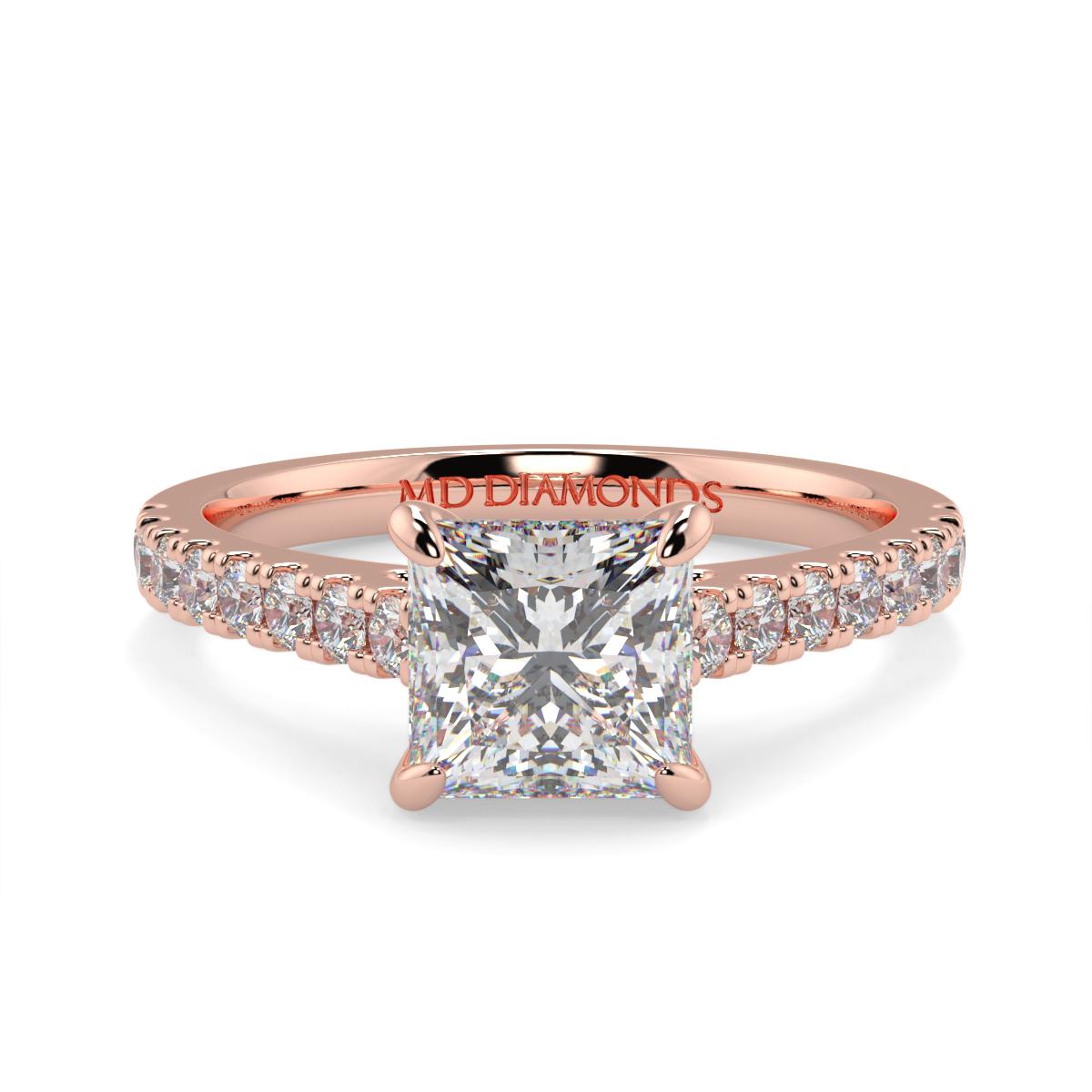 Princess Micro Set Diamond Ring