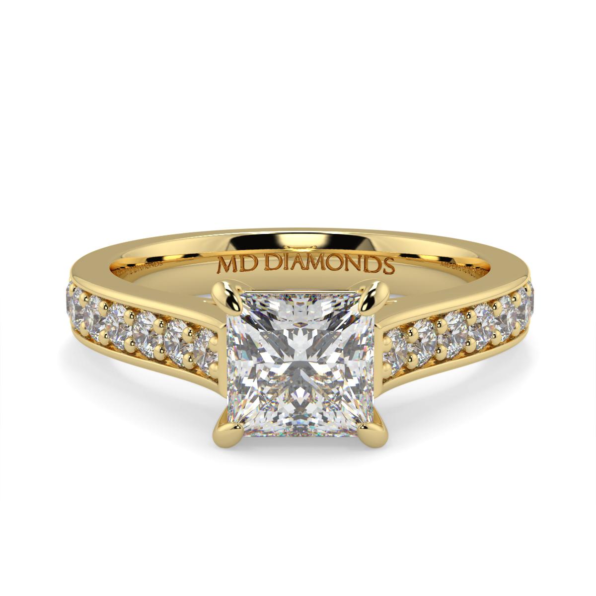 Princess Pave Set Diamond Ring