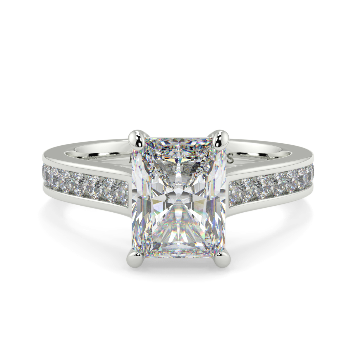 Radiant Channel Set Diamond Ring