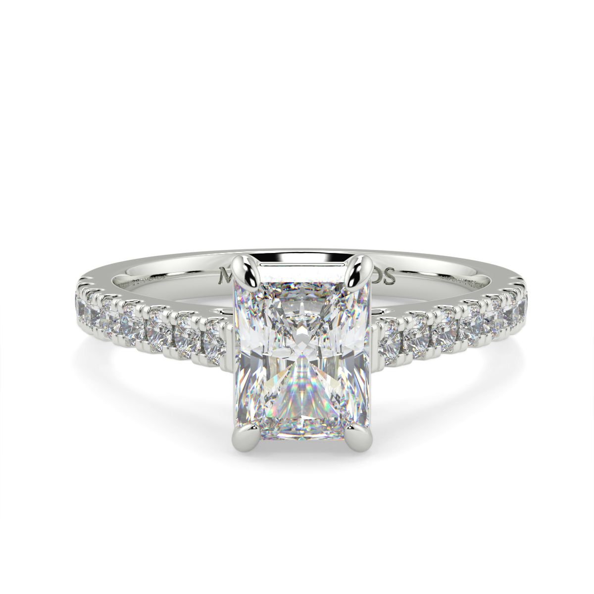 Radiant Micro Set Diamond Ring