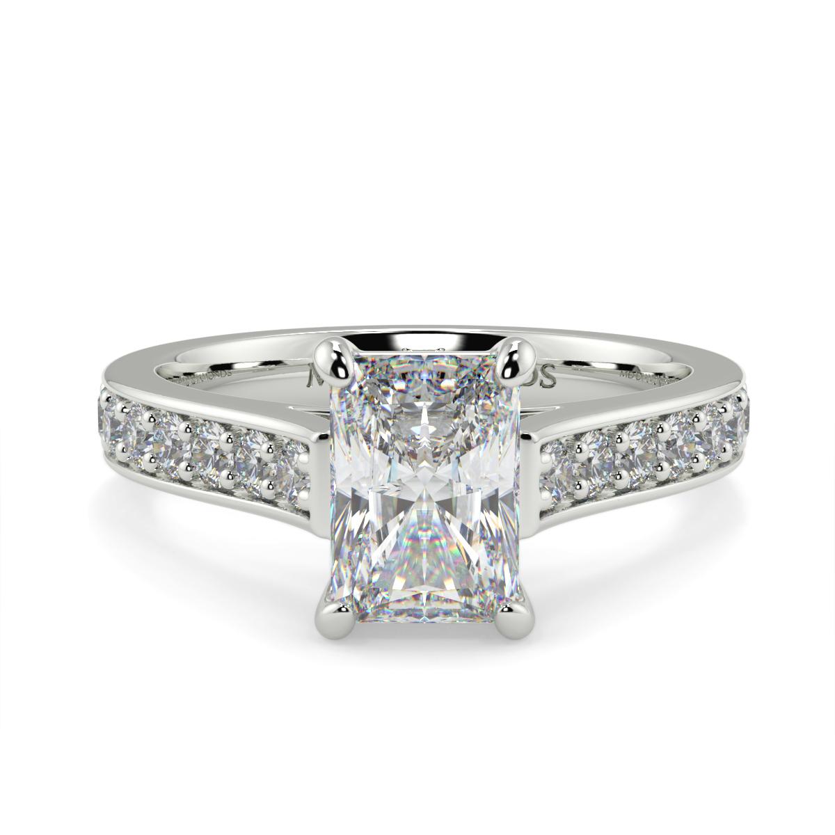 Radiant Pave Set Diamond Ring