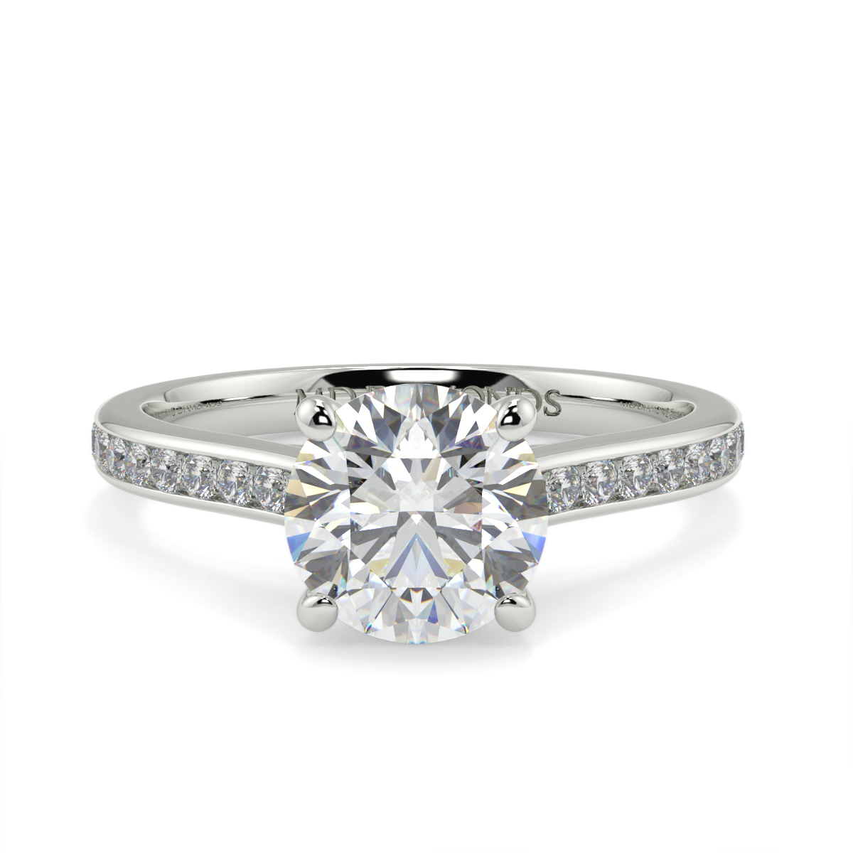 Round Chanel Set Wed Fit Diamond Ring