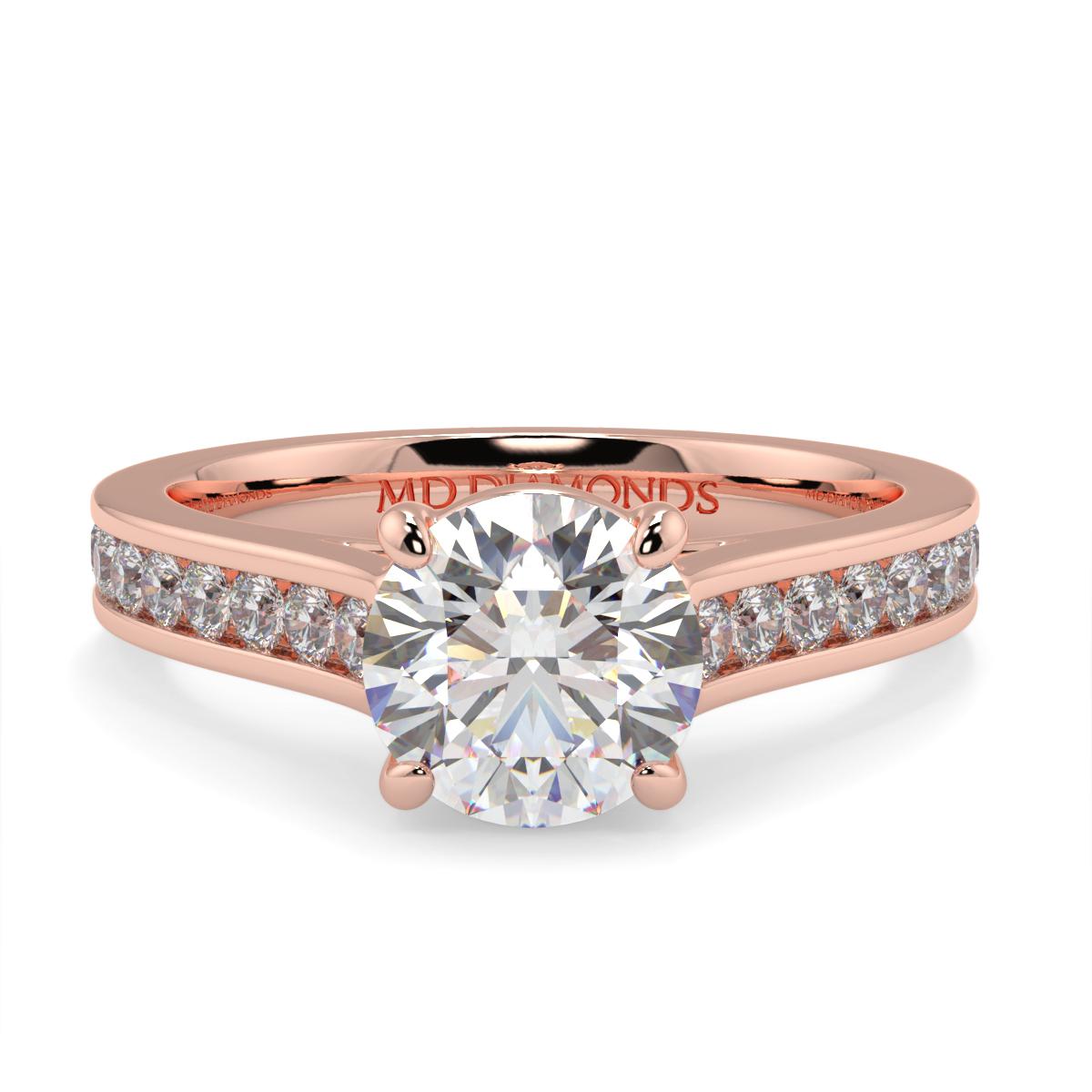 Round Channel Set Diamond Ring