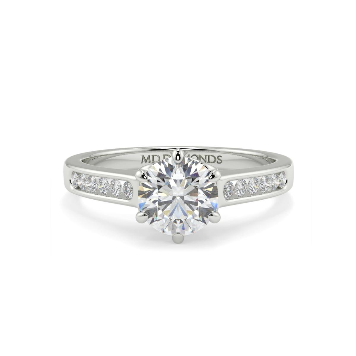 Round Channel Set Infinity Diamond Ring