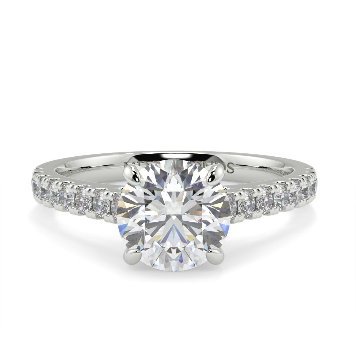 Round Microset Diamond Ring
