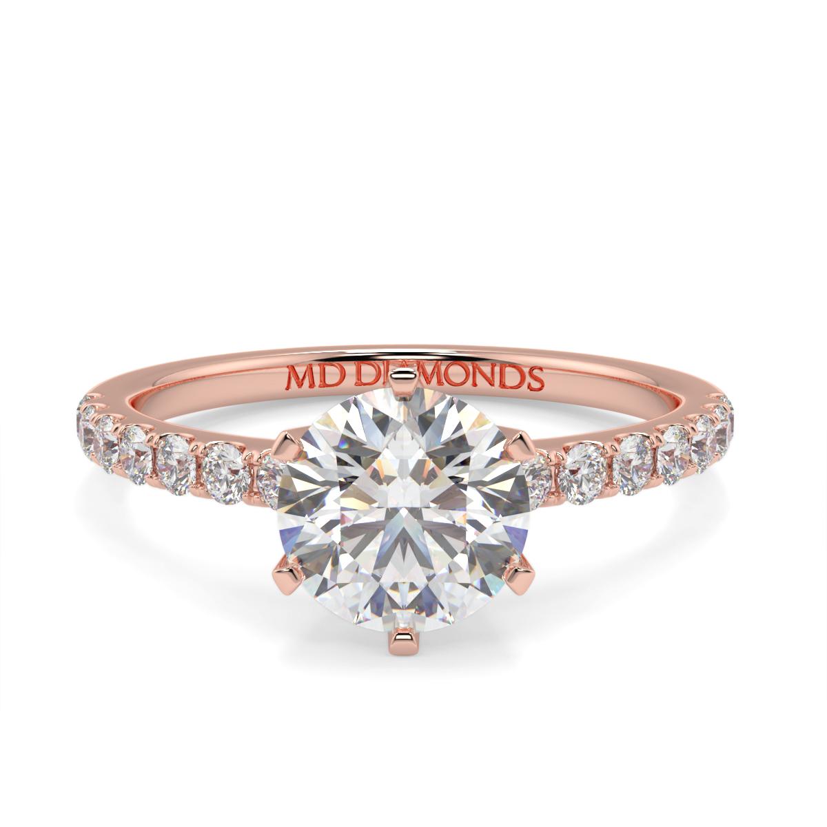 Round Microset Diamond Ring 2