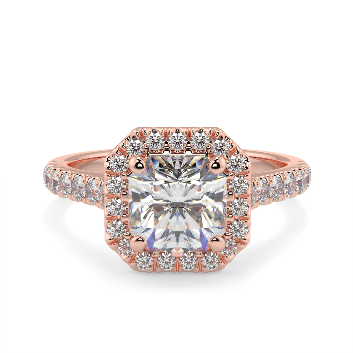 Asher Halo Microset Diamond Ring