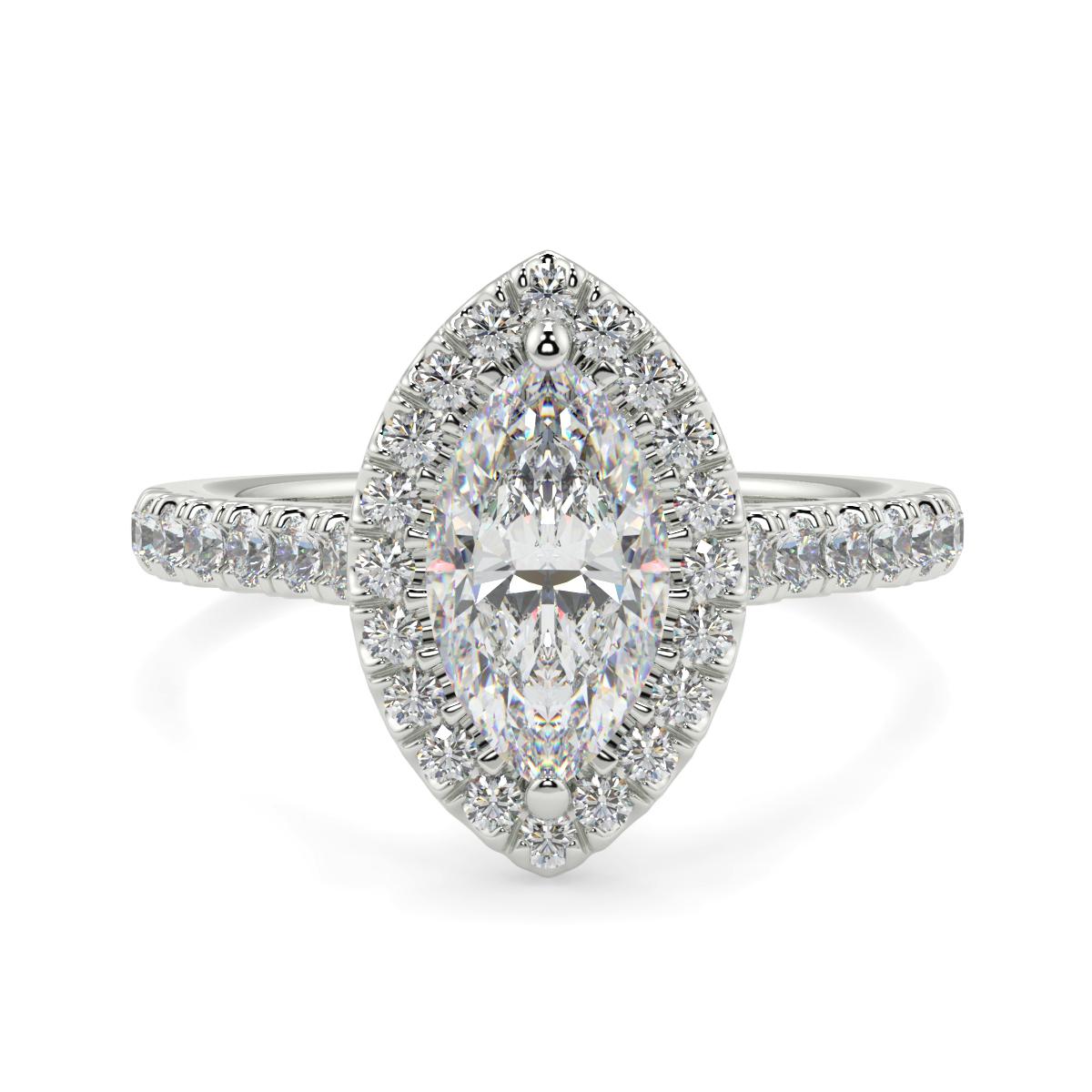 Marquise Microset Halo Ring