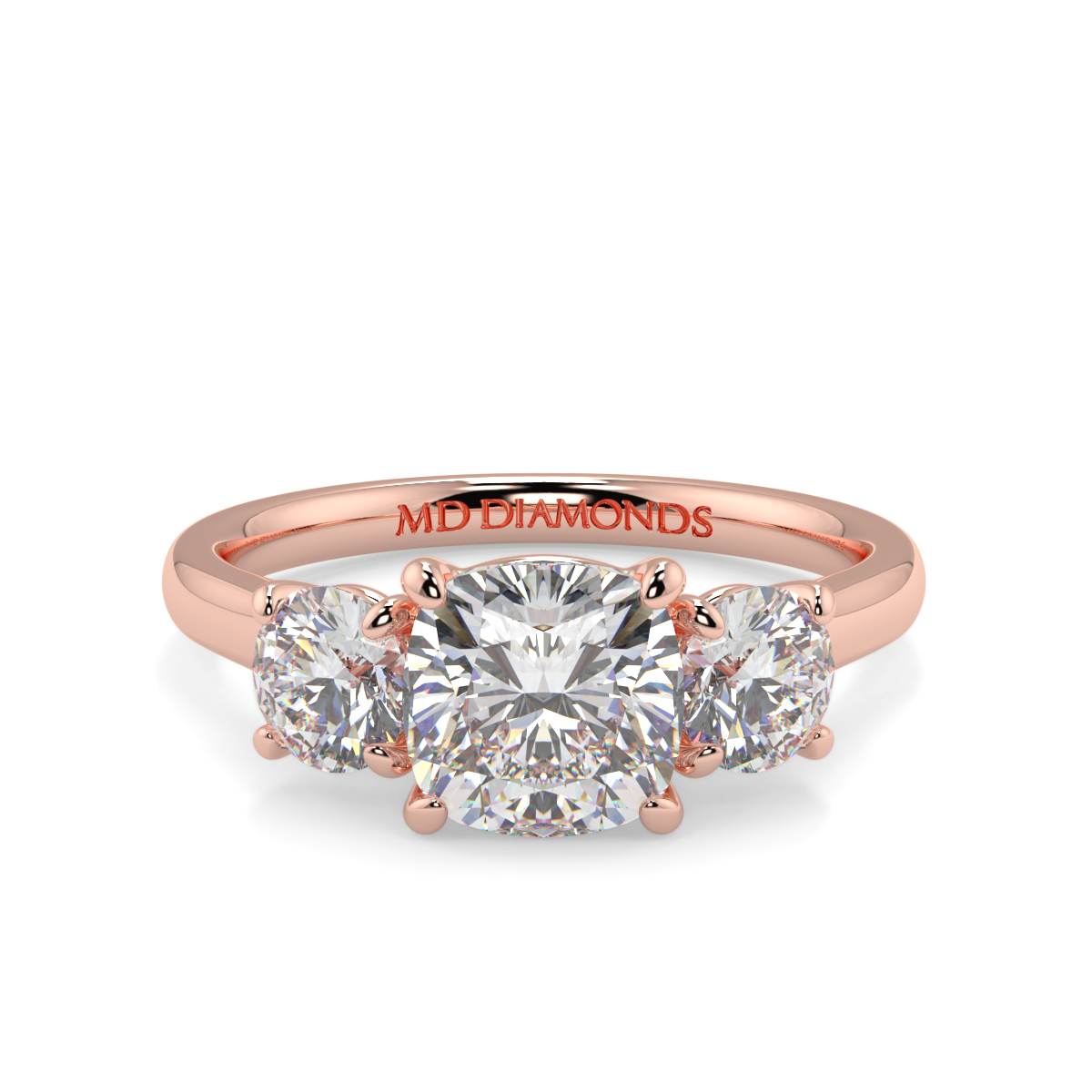 Cushion And Round Trilogy Ring