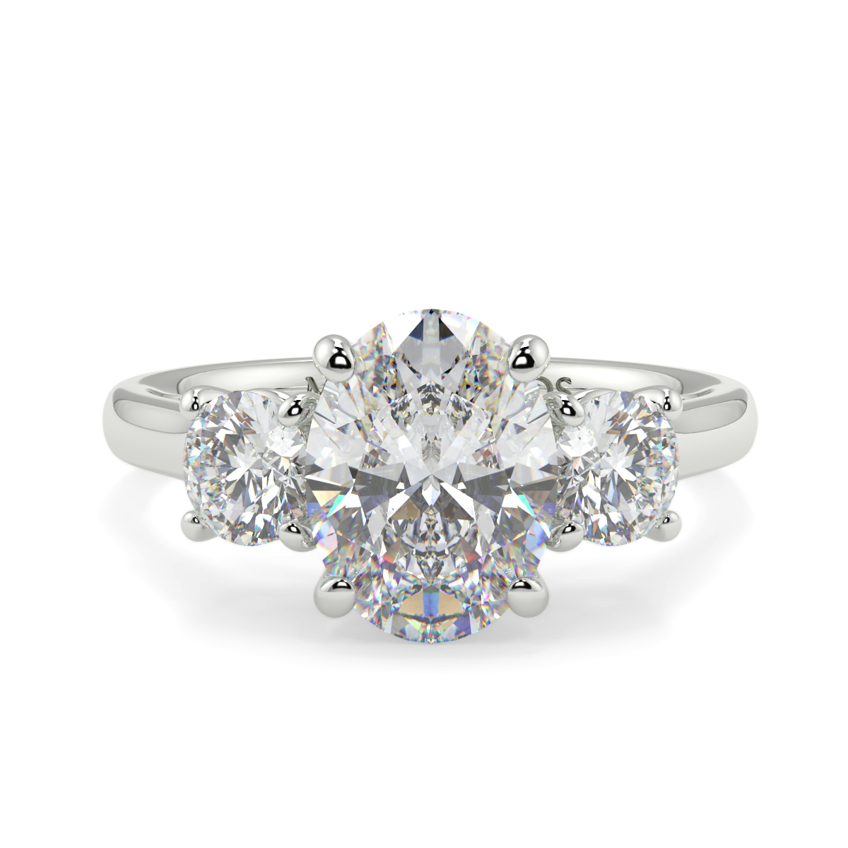 Oval With Round Trilogy Ring