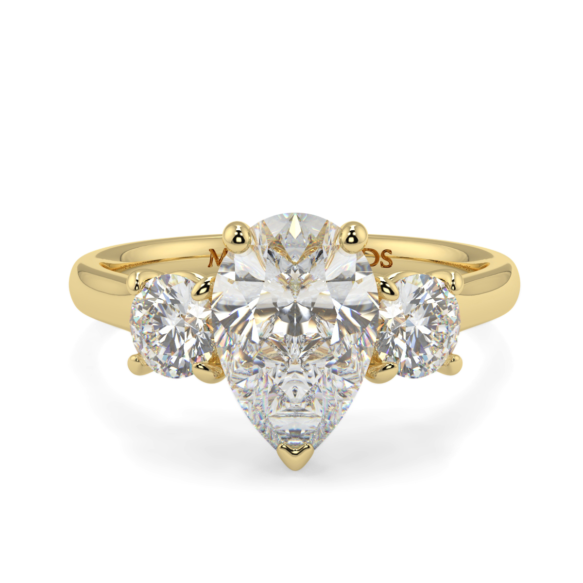 Pear And Round Trilogy Ring