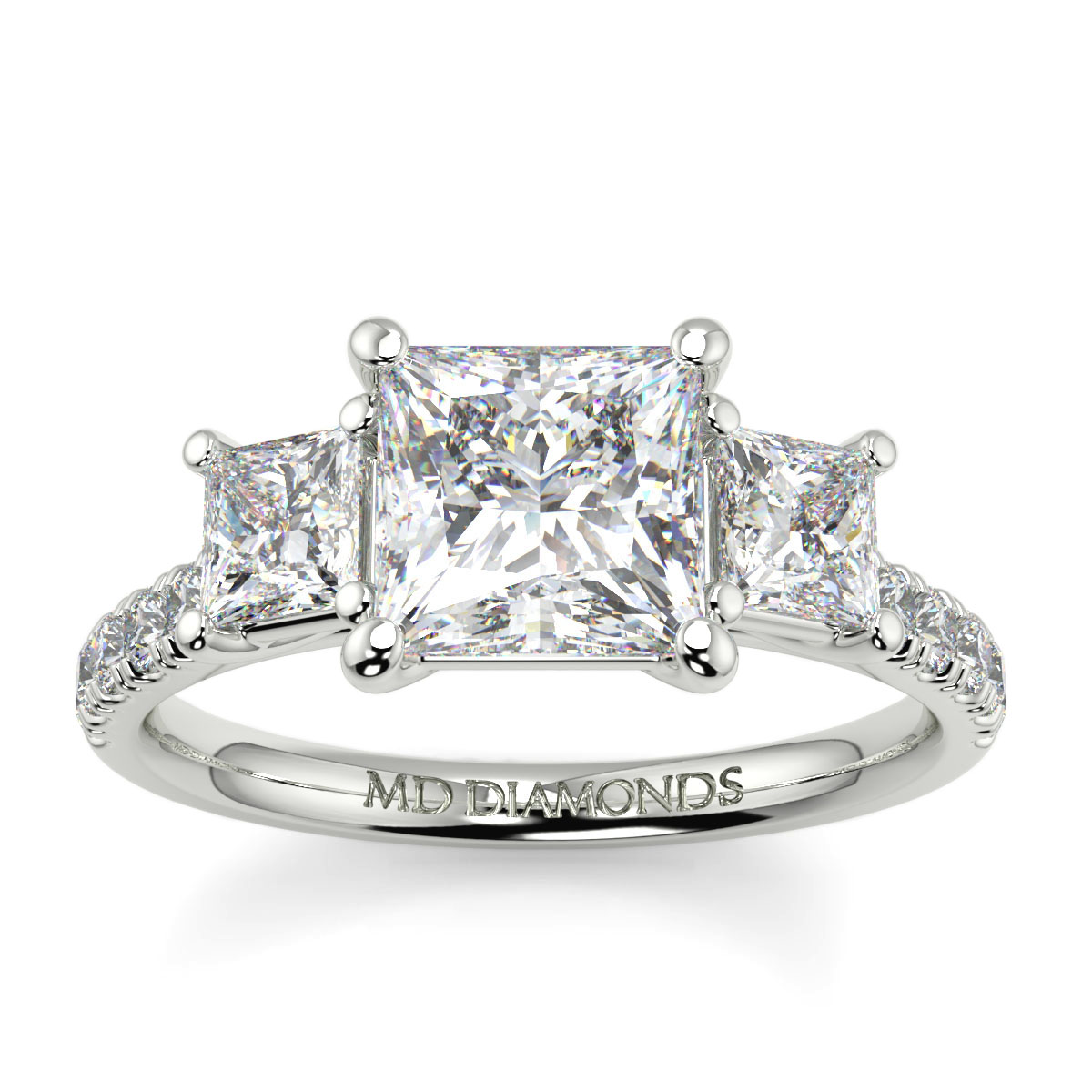 Princess  Microset Trilogy Ring