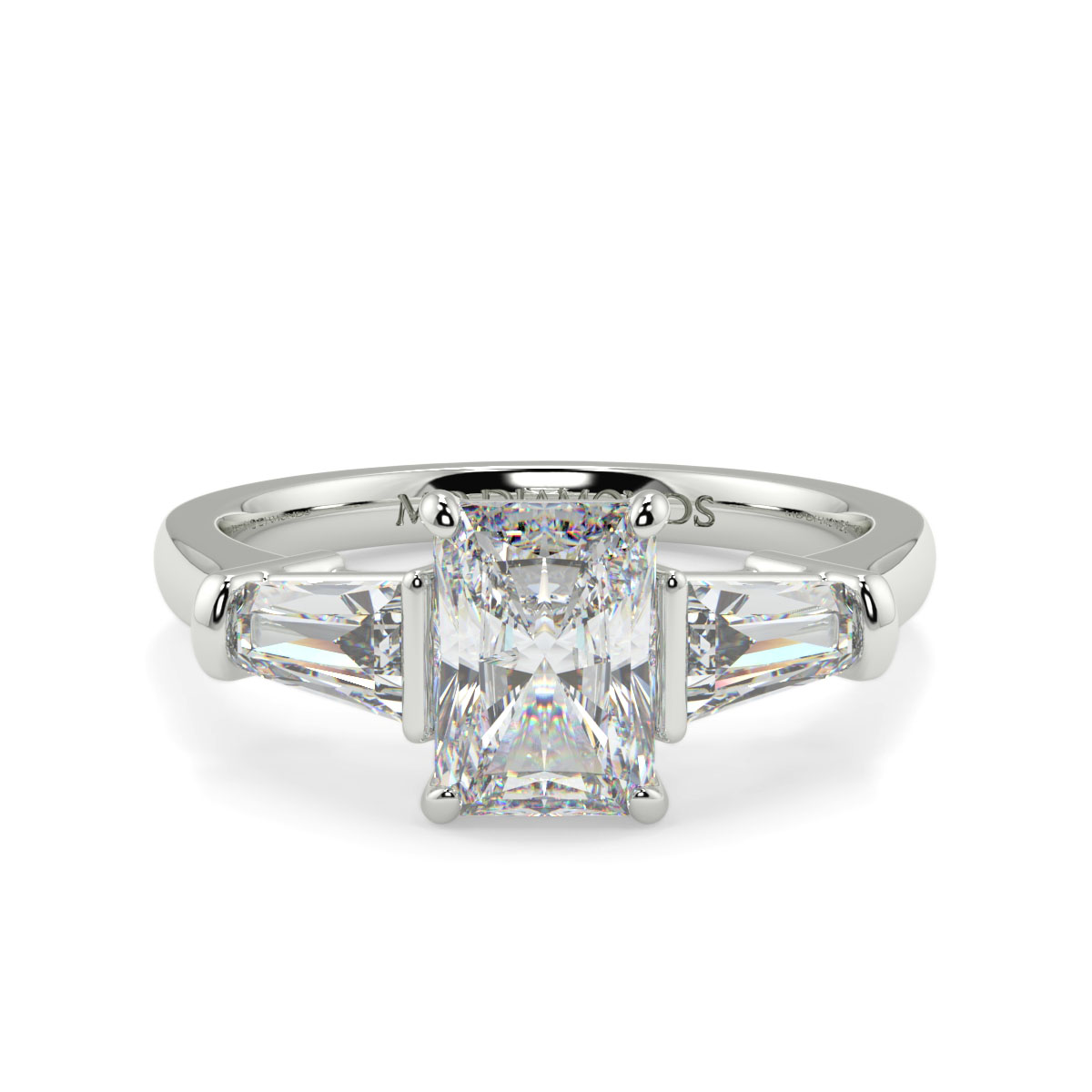 Radiant With Baguett Trilogy Ring