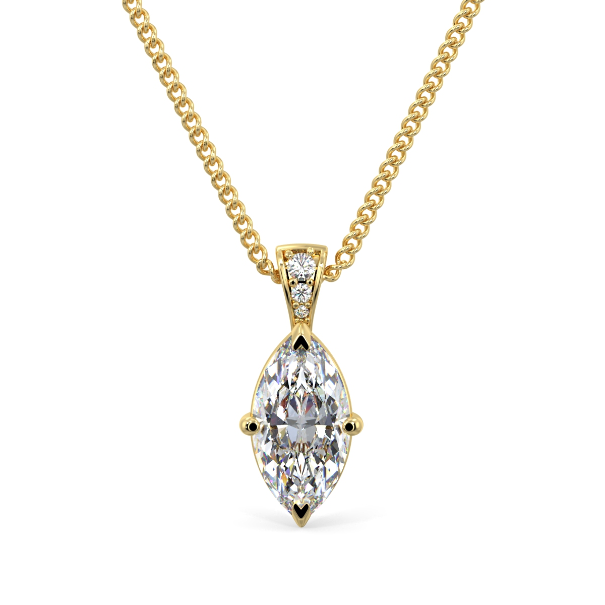 Marquise Pave Bail Pendant