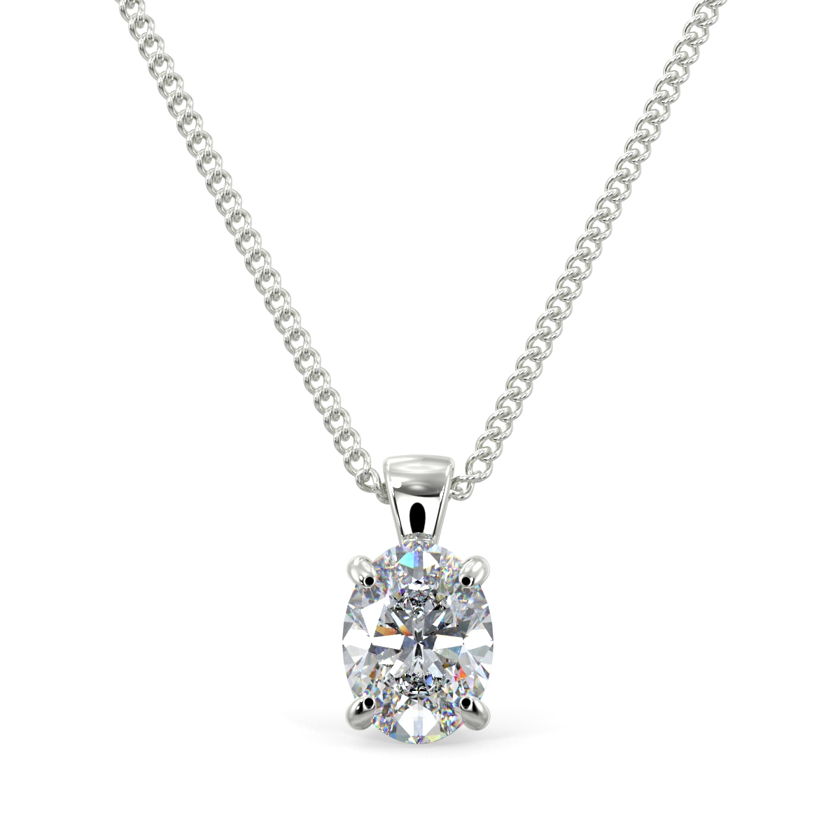 Oval Solitaire Pendnet