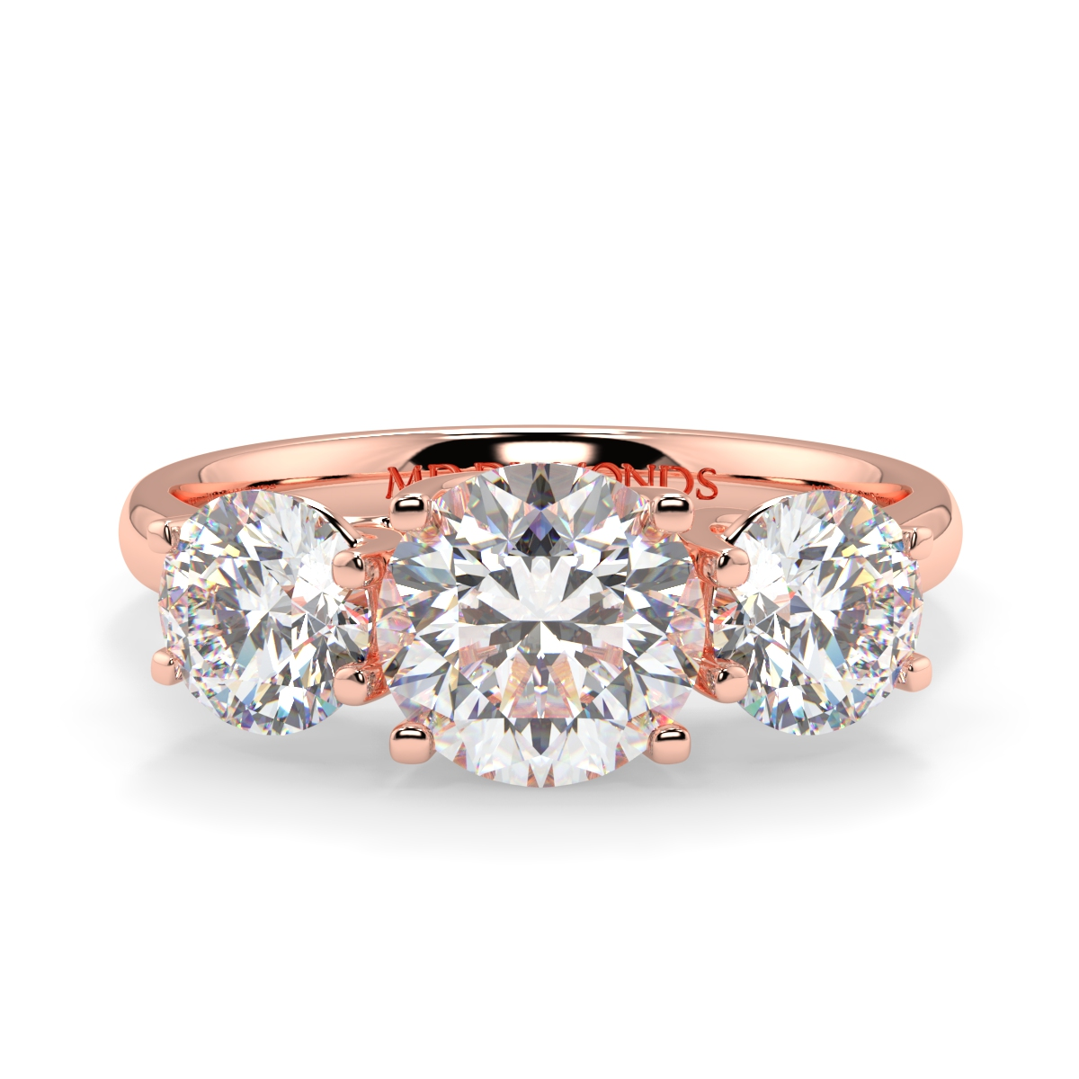 Round Lucida Trilogy Diamond Ring