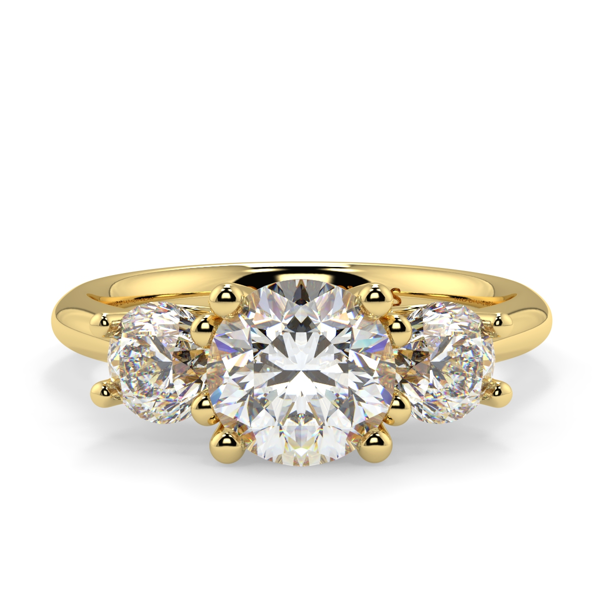 Round Trilogy Diamond Ring