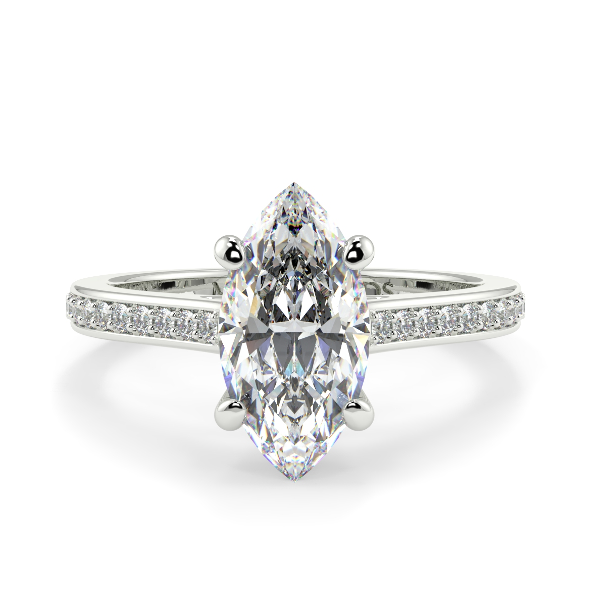 Marquise Pave Set Diamond Ring