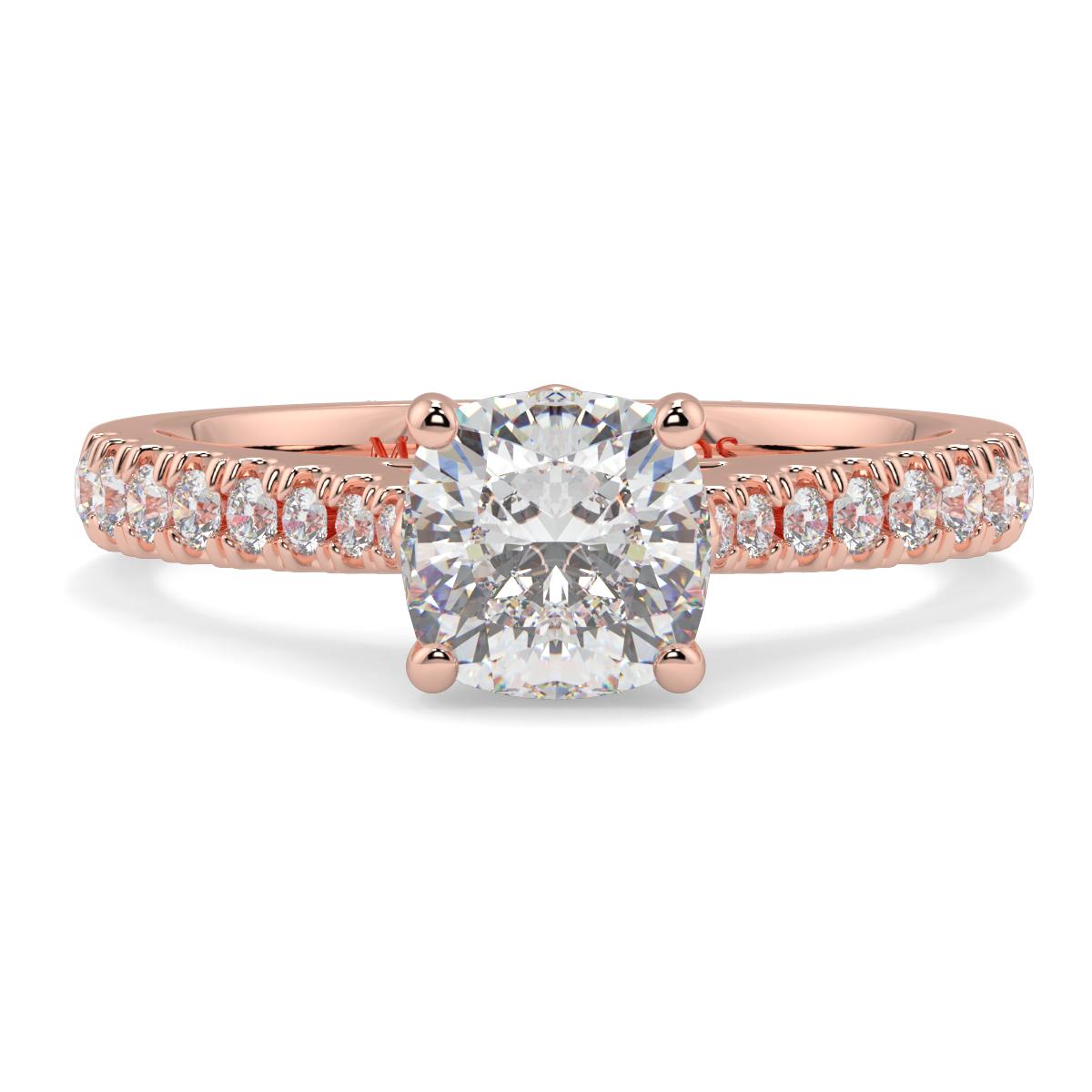 Cushion Micro Set Diamond Ring