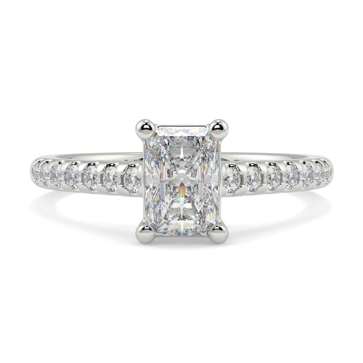 Emerald Channel Set Diamond Ring