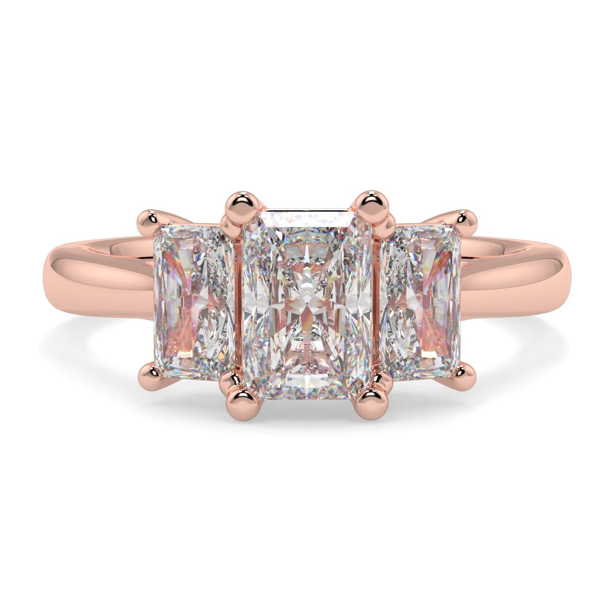 Emerald Trilogy Diamond Ring